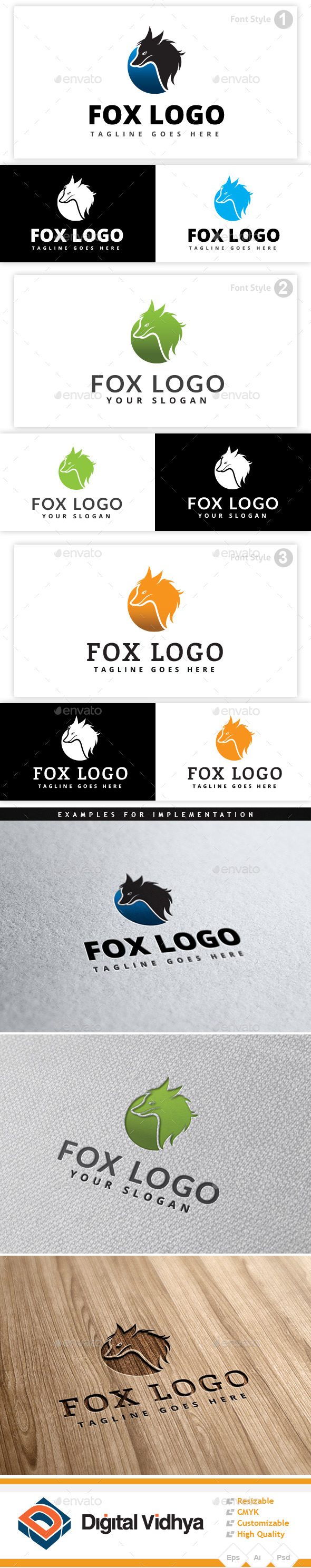 GraphicRiver Fox Logo 9351056
