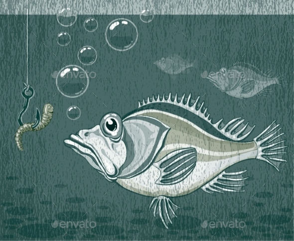 GraphicRiver Fish and Worm 9351076
