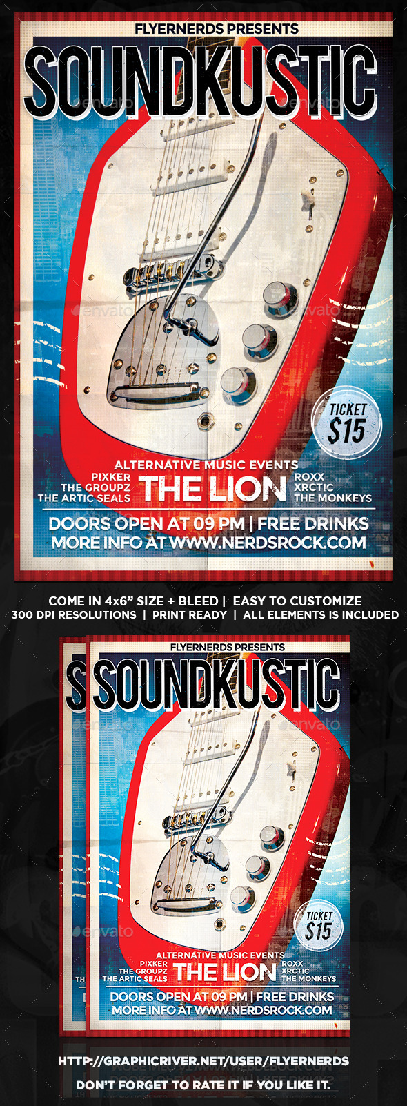 GraphicRiver Soundkustic Music Concert Flyer 9351089