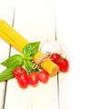 Italian spaghetti pasta tomato and basil - PhotoDune Item for Sale