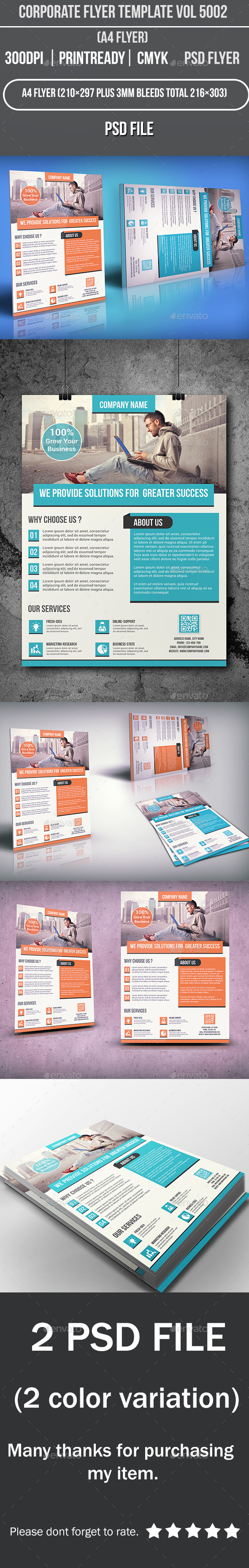 Corporate Flyer Template Vol 5002