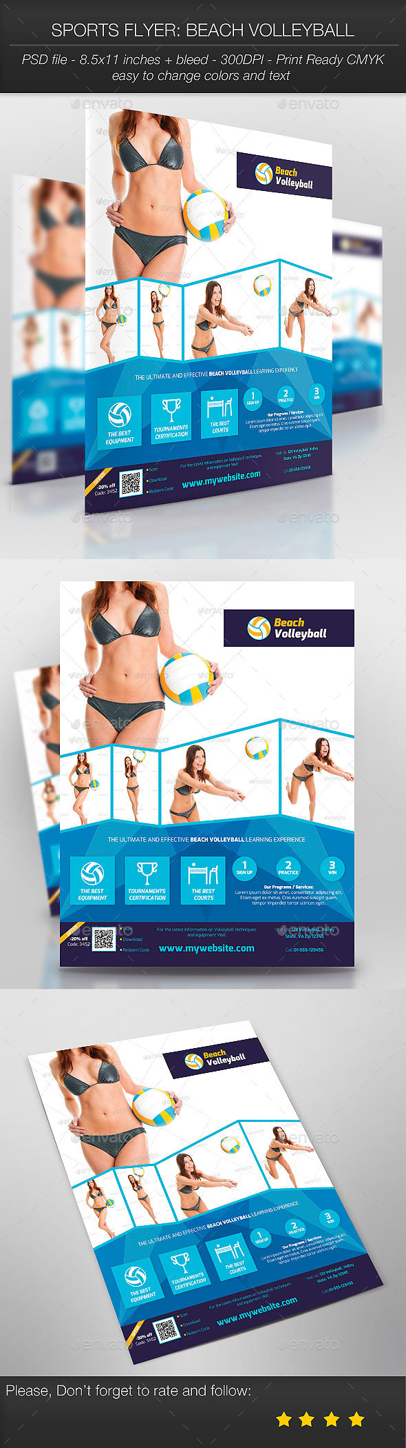 GraphicRiver Sports Flyer Beach Volleyball 9351240