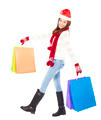 beautiful happy young woman holding shopping bags. Christmas shopping concept. - PhotoDune Item for Sale