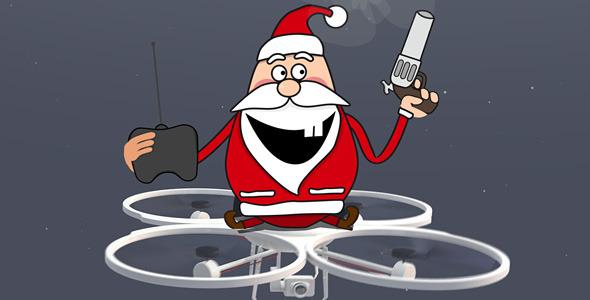 Santa on Drone