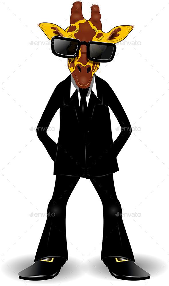 GraphicRiver Giraffe in a Suit 9351672