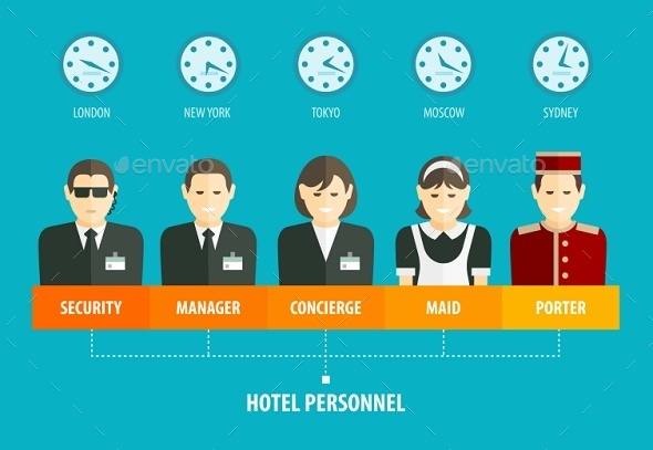 GraphicRiver Hotel Personnel Structure Infographics 9351798