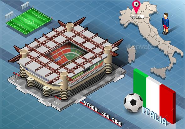 GraphicRiver Isometric Stadium San Siro Milan Italy 9352073