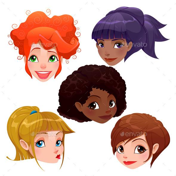 GraphicRiver Female Faces 9352115