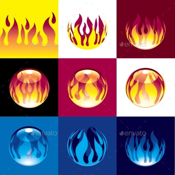 GraphicRiver Flame Set 9352180