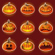 Halloween Pumpkin Character Emoticon Icons - GraphicRiver Item for Sale