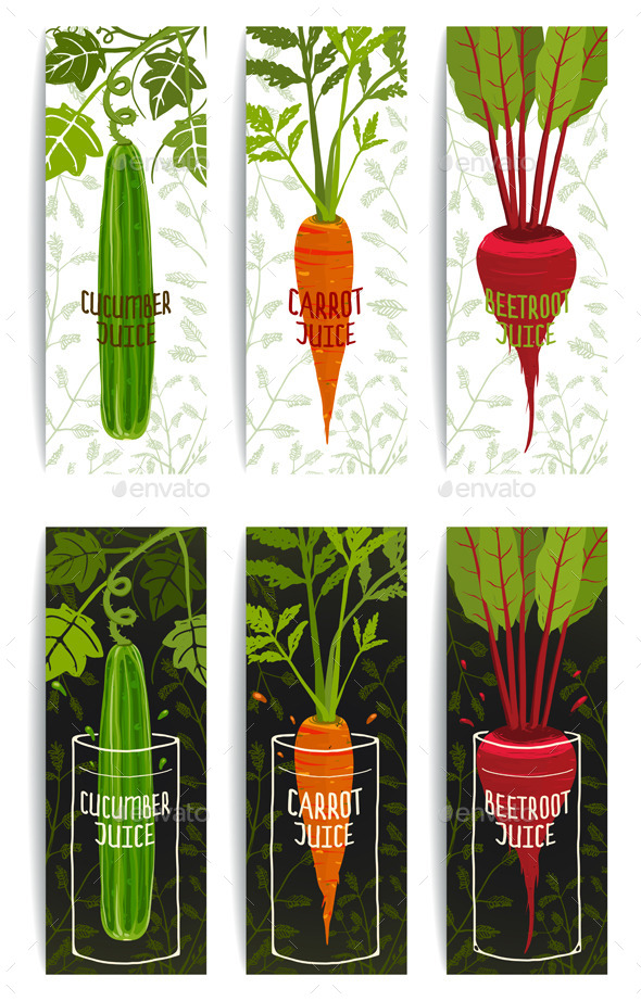 GraphicRiver Healthy Vegetables Juices Design Collection 9352805