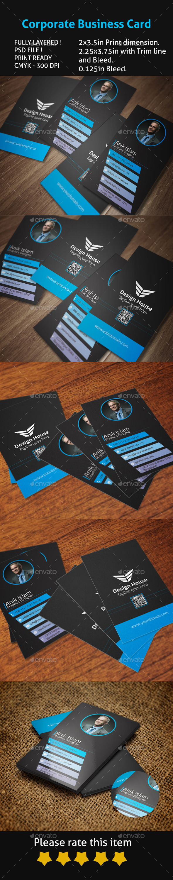 GraphicRiver Corporate Business Card 9319060