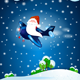 Santa Claus on the Airplane, by Night - GraphicRiver Item for Sale