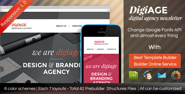 ThemeForest AGENCY Responsive Email Template With Builder 9325088