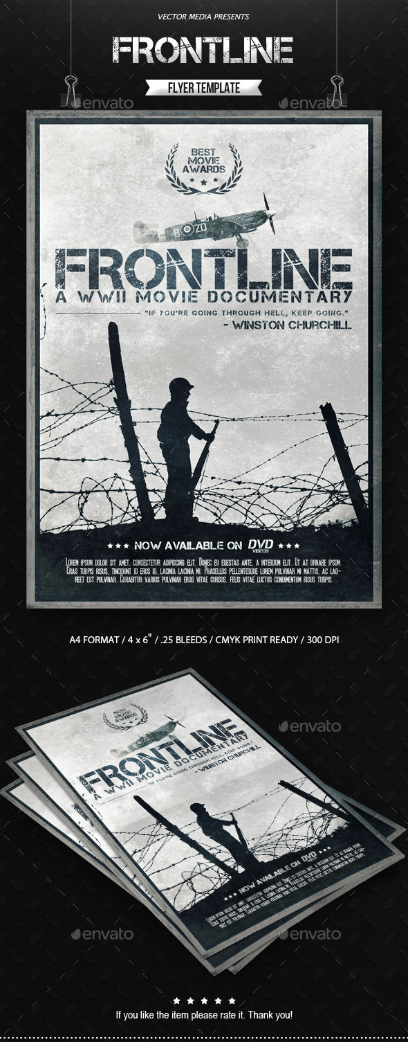 GraphicRiver Frontline Movie Poster 9323619
