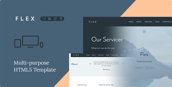 ThemeForest Flex Multi-purpose HTML Template 9225930