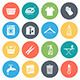 Housework Round Vector Icons - GraphicRiver Item for Sale