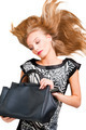 Portrait of attractive blond lady with handbag - PhotoDune Item for Sale
