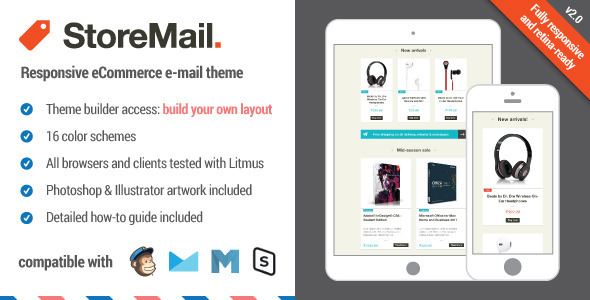 StoreMail: Responsive eCommerce Email + Builder - Email Templates Marketing