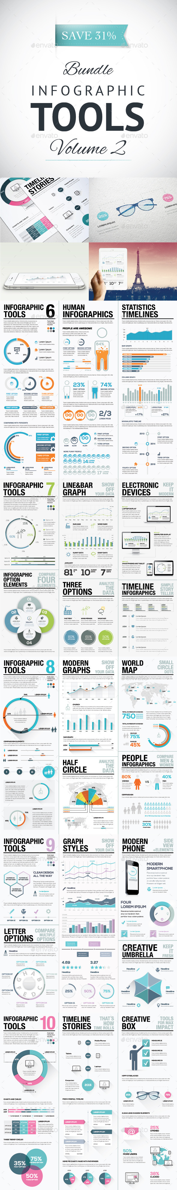 Infographic Tools Bundle Volume 2 AI & EPS