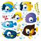 Vector Cartoon Fish Set - GraphicRiver Item for Sale
