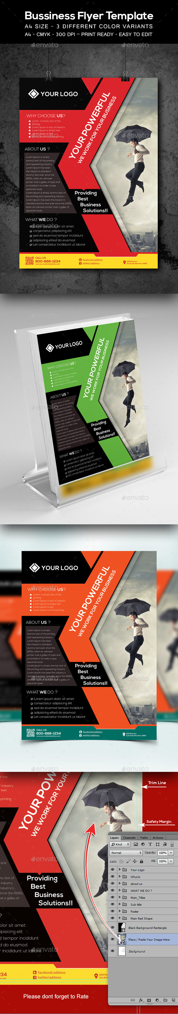 GraphicRiver Corporate Business Flyer Template 9355564