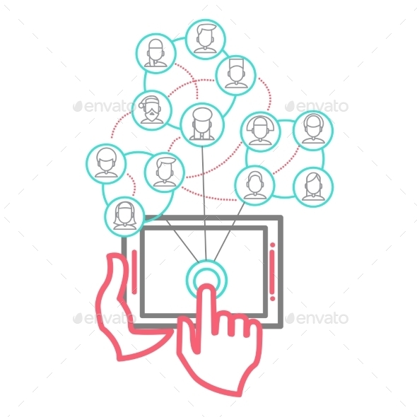 GraphicRiver Social Networking People Conceptual Vector Design 9355567