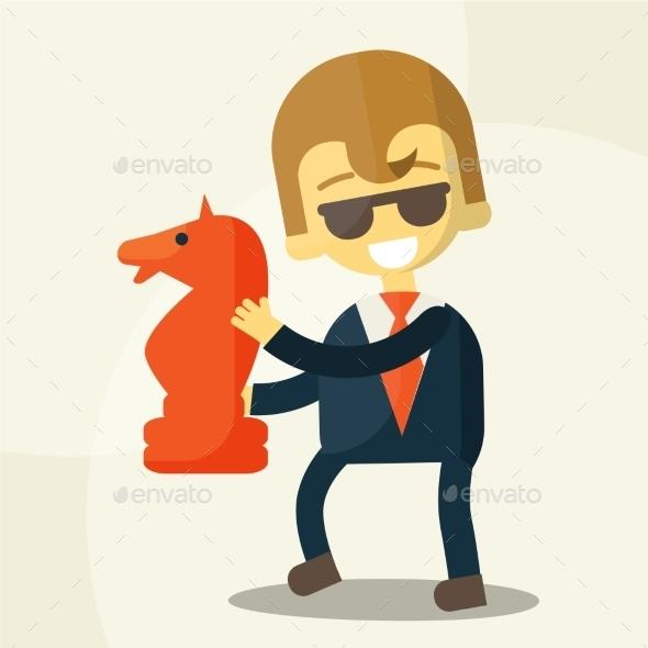 GraphicRiver Businessman and a Development 9355593