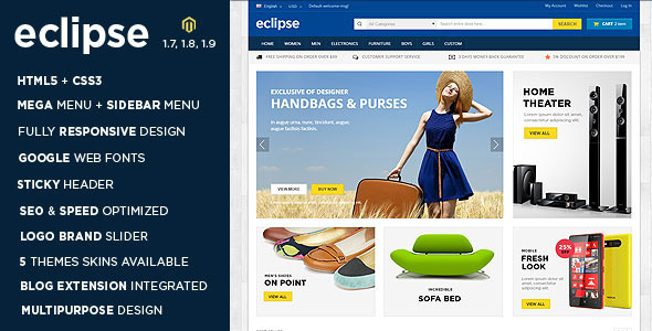 Eclipse - Responsive Multipurpose Magento Theme - Shopping Magento