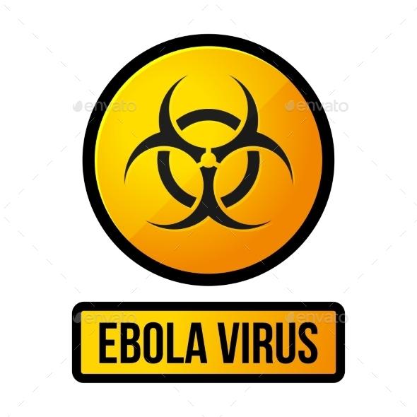 GraphicRiver Ebola Yellow Danger Sign Vector 9355613