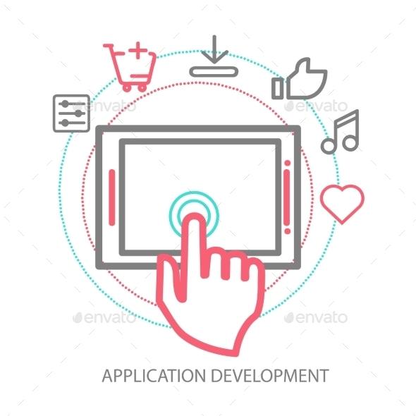 GraphicRiver Vector Mobile App Development Concept 9355621