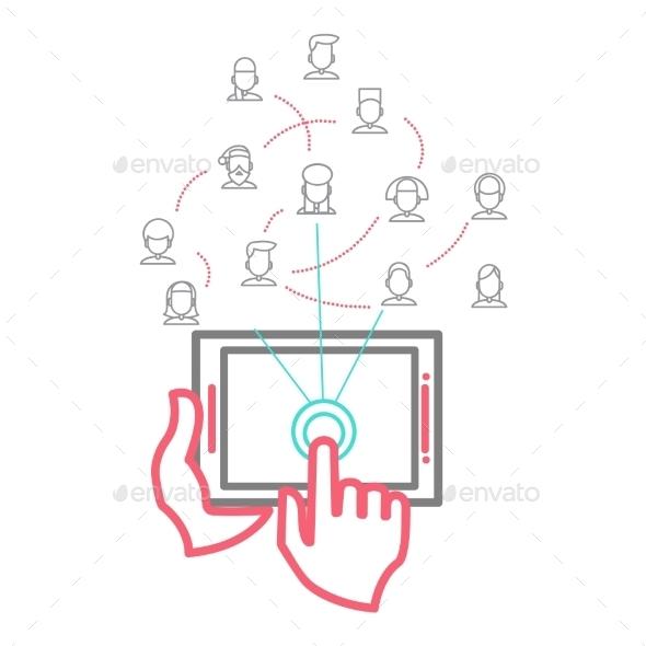 GraphicRiver Social Networking People Conceptual Vector Design 9355622