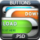 Colored Glass Download Web Buttons (vol 2) - GraphicRiver Item for Sale