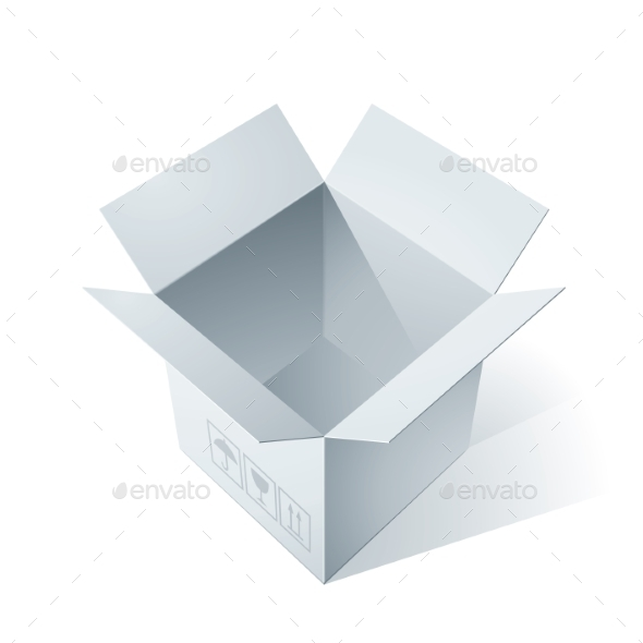 GraphicRiver Open Cardboard Box 9355991