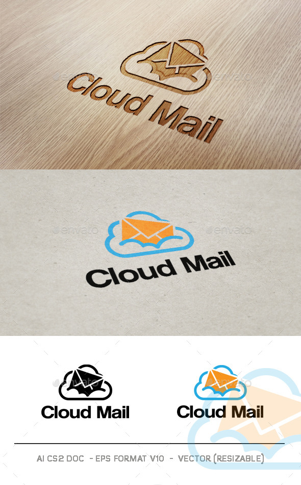 GraphicRiver Cloud Mail V2 Logo 9356088