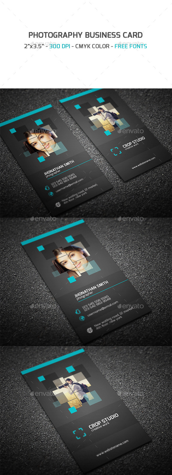 GraphicRiver Photography Business Card 9356123