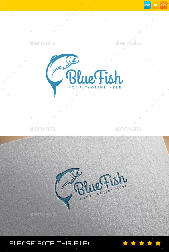 GraphicRiver Fish Logo 9356134