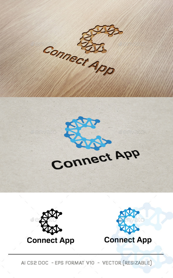 GraphicRiver Connect App V2 Logo 9356178