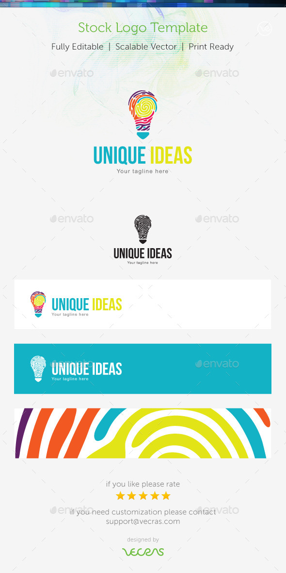 GraphicRiver Unique Ideas Stock Logo Template 9356189