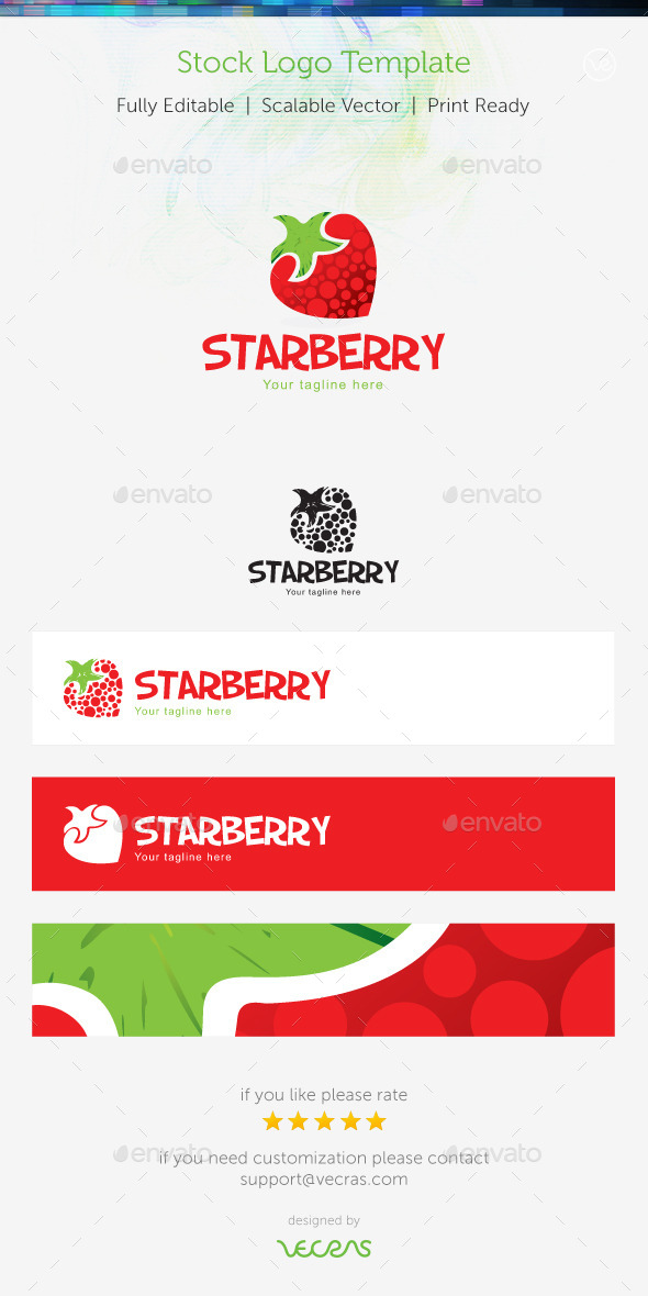 GraphicRiver StarBerry Stock Logo Template 9356194