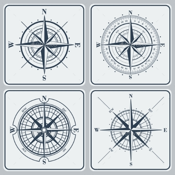 GraphicRiver Set of Compass Roses 9356197