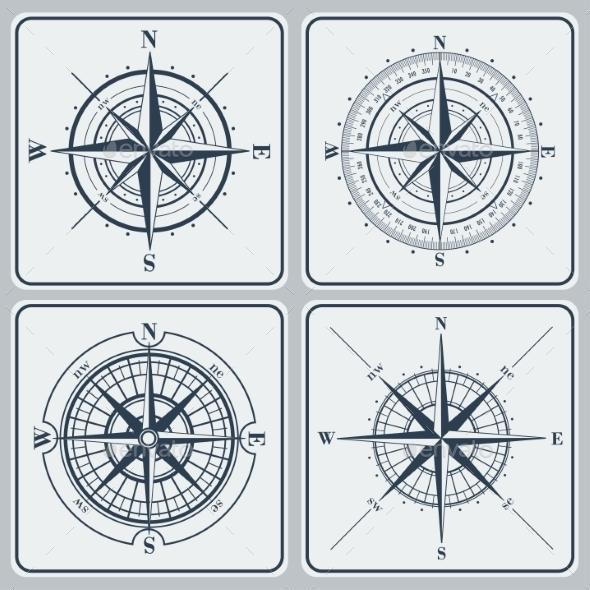 GraphicRiver Set of Compass Roses 9356197