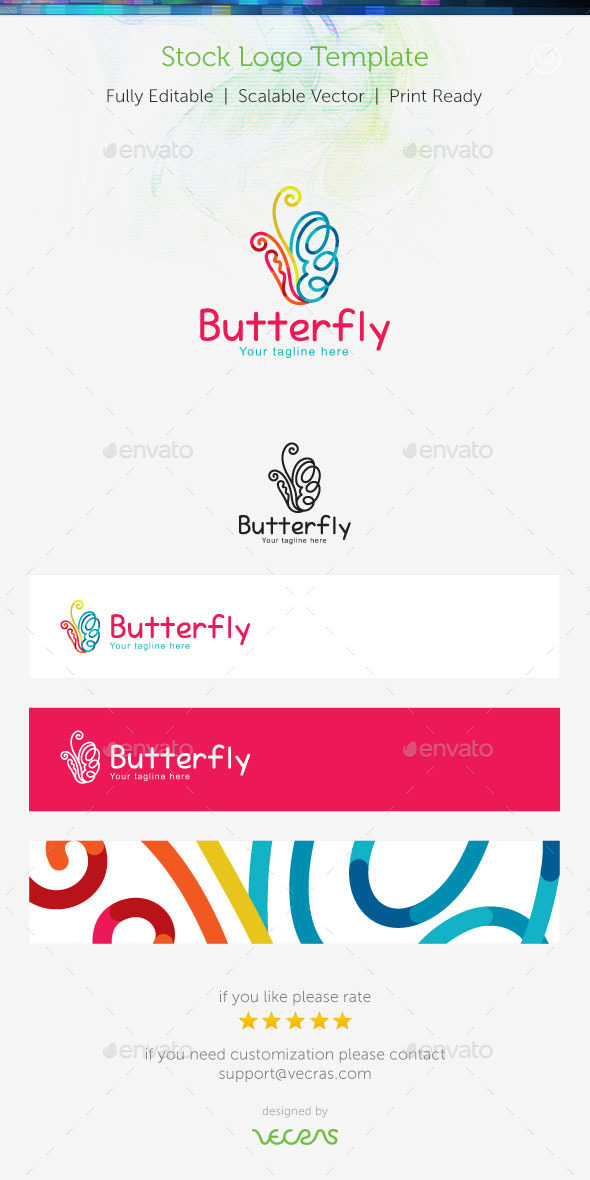GraphicRiver Butterfly Stock Logo Template 9356217