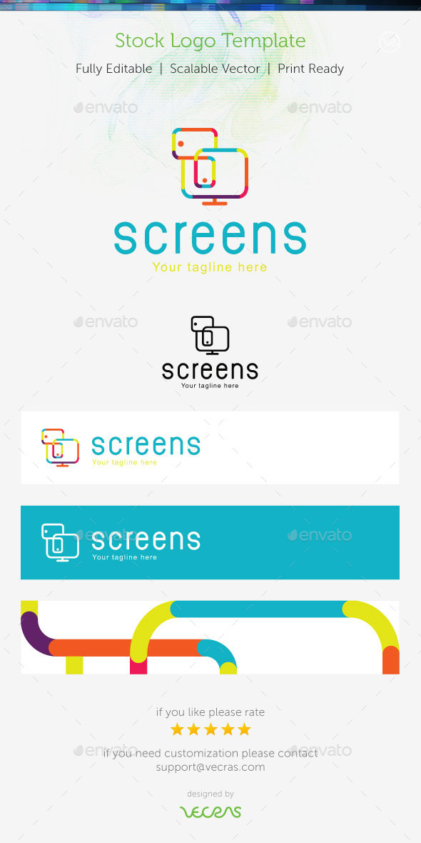 GraphicRiver Screens Stock Logo Template 9356262
