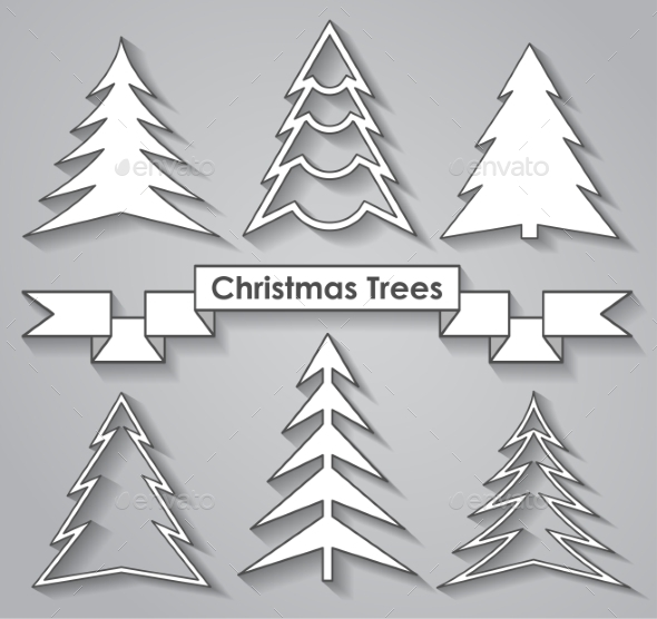 GraphicRiver Set of Christmas Trees 9356268