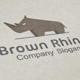 Brown Rhino Logo - GraphicRiver Item for Sale