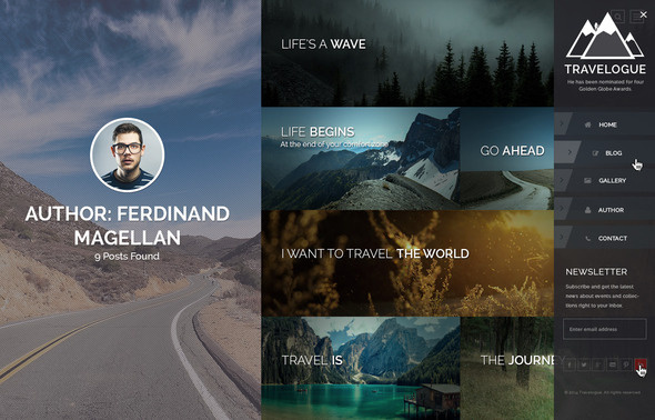 ThemeForest Travelogue Travel Blog HTML Template 9058694