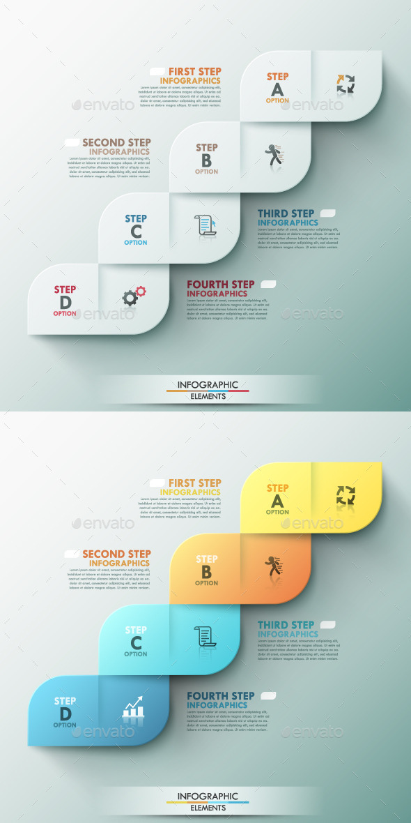 GraphicRiver Modern Infographic Options Template 2 Colors 9356400