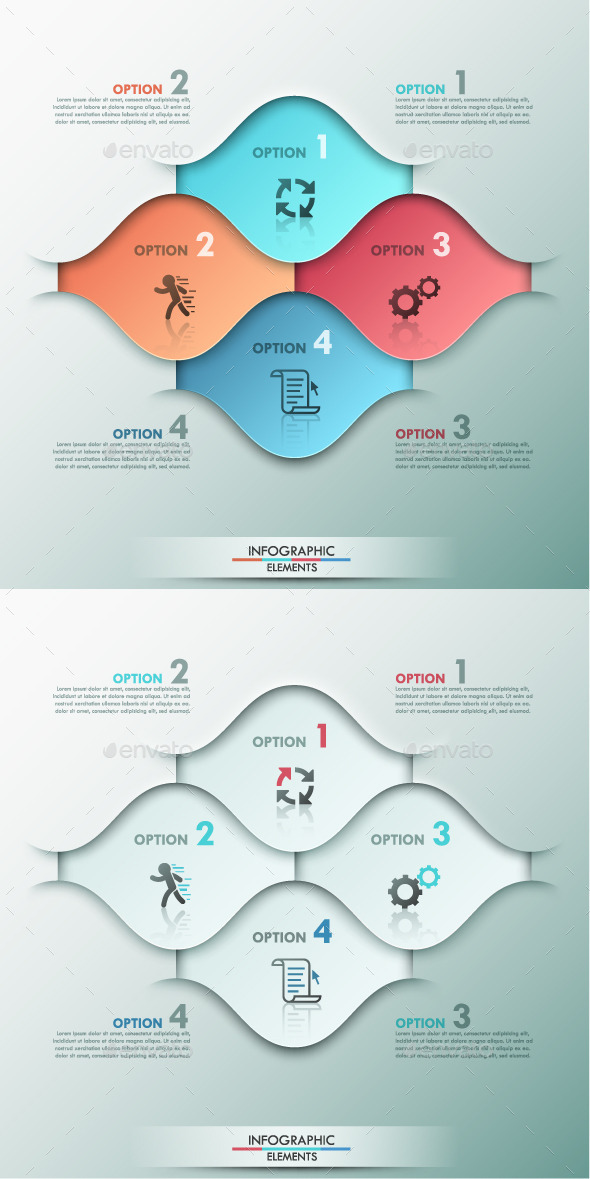 GraphicRiver Modern Infographic Options Template 2 Colors 9356452