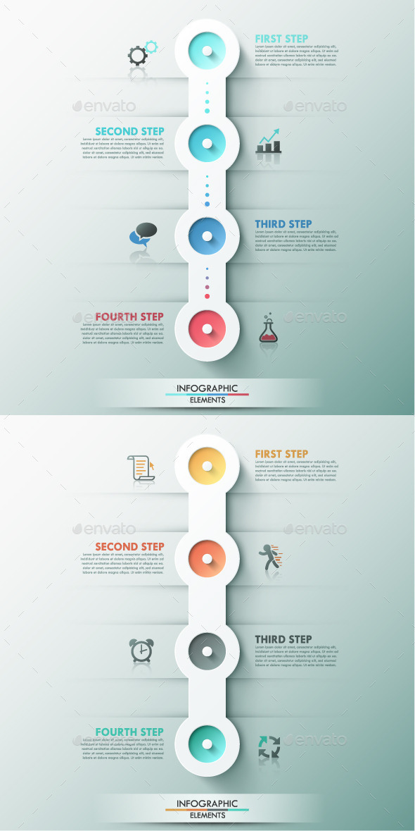 GraphicRiver Modern Infographic Process Template 2 Colors 9356544